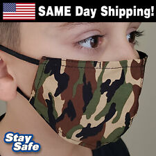 Child size Camo Face Mask – Includes 2 Filters – 30+ Custom Kids Designs