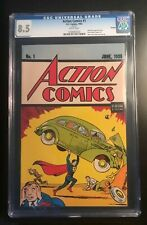 ACTION COMICS #1 REPRINT 1992 CGC 8.5 VF WHITE PAGES FIRST SUPERMAN LOOKS NICER