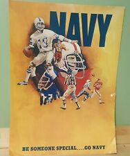 Us Navy Recruiting Poster 1974 Football Sports 1970s 28x20 Be Someone Special
