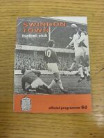 25/10/1966 Swindon Town v West Bromwich Albion [Football League Cup] . Footy Pro