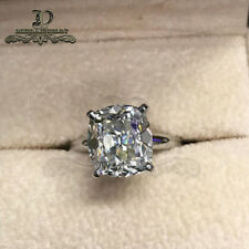 2ct Radiant VVS1 Diamond Solitaire Engagement Ring 10K White Gold Finish