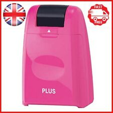"""PLUS Japan IS-500CM""""Guard-Your-ID Camouflage"""" Roller Stamp - Pink"""