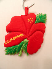 California Red HIBISCUS Pot Holder 1987