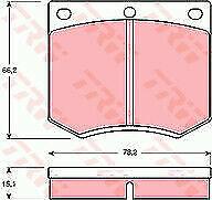 EBC GREENSTUFF FRONT PADS DP2291 FOR FORD ESCORT MK2 2.0 RS 110 BHP 75-80