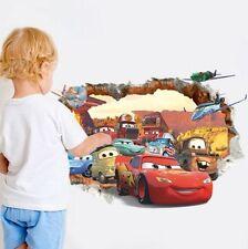 Cars Auto Wandtattoo Wandsticker 3D XXL Autos Kinderzimmer Deko disney Kinder 3