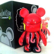 """DISNEY VINYLMATION 3"""" URBAN SERIES 5 SQUIDDY RED SQUID FACE MICKEY MOUSE FIGURE"""