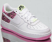 Nike Air Force 1 '07 GS Older Kids' White Pink Athletic Lifestyle Sneakers Shoes