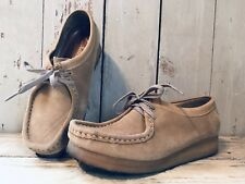 Clarks Originals Wallabee Beige Suede Tan Casual Moc Chukka Shoes Women's 8.5 M