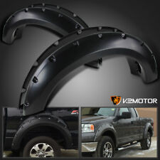 2004-2008 F150 Styleside Offroad Black Pocket Rivet Style Bolt On Fender Flares