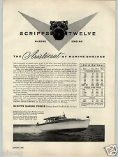 1955 PAPER AD Scripps 12 Twelve Marine Engine Harco 40 Harbor Boat Building