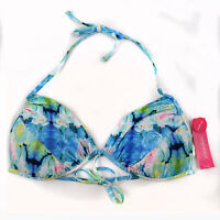 Xhilaration Floral Print Push Up Bikini Top Size Large