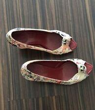 Multicolored raffia wedge Schuhe Sandalen Zara Gr. 38