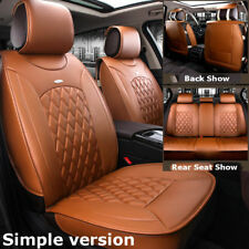 Brown Simple Car Microfiber Leather Seat Covers For Nissan Altima Sentra Rogue