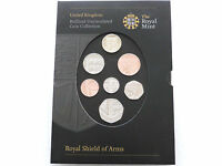 2008 First Year of Issue Royal Shield of Arms Brilliant Uncirculated 7 Coin Set