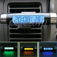 Clip-on Truck Car LCD Thermometer Automotive Digital Backlight Clock