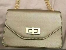 Therapy London Metallic Grey/ Pewter Handbag With Adjustable Chain Strap. BNWT.