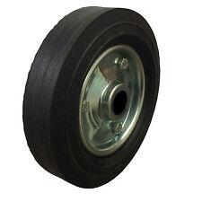 "1 x 200mm  1""Bore  jockey wheel. Metal centre. Solid rubber tyre*"