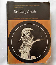 Reading Greek Grammar Vocabulary and Exercises OU language course book adult