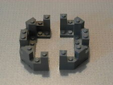 Lego Castle - 2 x Dark Grey Castle Turret Top 4 x 8 x 2 1/3 (6066)