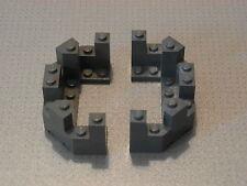 Lego Castle - 2 x Dark Grey Castle Turret Top 4 x 8 x 2 1/3 (6066)