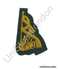 Badge Pipe and Drum Band Badge Gold on Green R1198