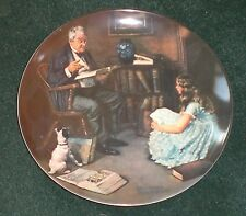"Knowles China Norman Rockwell Heritage,""The Storyteller"""