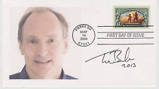SIGNED TIM BERNERS-LEE FDC AUTOGRAPH FIRST DAY COVER INVENTOR WORLD WIDE WEB WC3