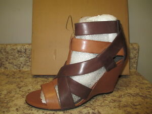 """Joie """"Royce"""" Strappy Sandals Tani/Brown 8.5 M Leather Upper New With Box"""