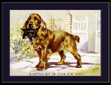 English Picture Print Cocker Spaniel Dog Kitten Art
