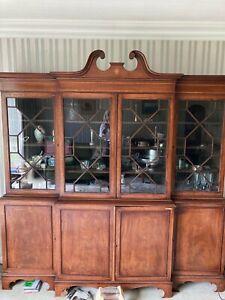 Stunning Rare Antique Victorian Breakfront Bookcase VGC
