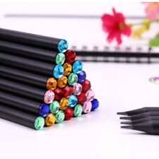Pencil Diamond Color 12Pcs/Set Items Drawing Supplies School Basswood Office