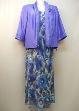 PLUS SIZE 24W Womens Mother of The Bride Formal 2PC Dress Suit LE BOS Floral