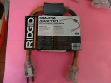 Ridgid 2Ft 30A-20A Adapter with Circuit Breaker
