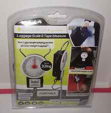 LUGGAGE PORTABLE SCALE & TAPE MEASURE  TRAVEL TIME - ACCURATE