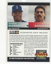1994 COLLECTORS CHOICE BASEBALL YOU CRASH THE GAME KEN GRIFFEY JR. JUAN GONZALEZ