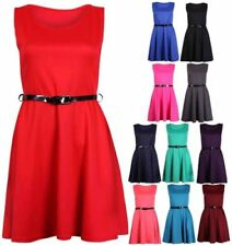 Polyester Scoop Neck Machine Washable Dresses for Women