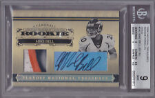 2006 Playoff National Treasures RC Auto Patch Gold #142 Mike Bell #17/25 BGS 9 8
