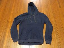 Men's Adidas Vespa Navy Blue Dark Green Button Down Pullover Hoodie sz L