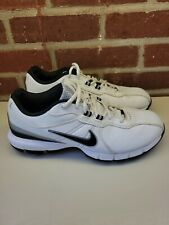 New listing Men's NIKE TAC Power Channel Leather Golf Shoes Size 9.5 317682-101