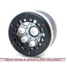 Gear Head RC Axial 2.2 Wheel Beadlock Ring Style No 4 Black Delrin (4) GEA1236