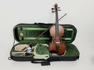 Premium Symphony 3/4 Solid Wood Violin Pack w/Deluxe Foam Case,Ebony Pegs SJV01A
