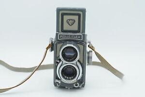 Rollei Rolleiflex 4x4 Baby Grey TLR Film Camera Gray (parts/repair) #814