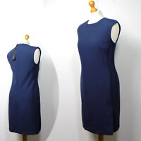 New M&S AUTOGRAPH Knee Length TAILORED SHIFT DRESS ~ Various Sizes ~ NAVY