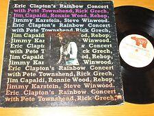 """70s ROCK LP - ERIC CLAPTON & OTHERS - RSO 877 - """"RAINBOW CONCERT"""""""