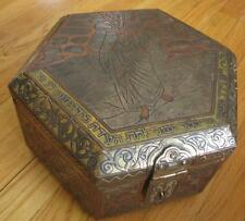 Rare Antique Damascus Jewish Judaica Box Moses Egypt Hand Made
