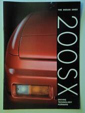NISSAN 200SX orig 1989 UK Mkt 20 Page Sales Brochure