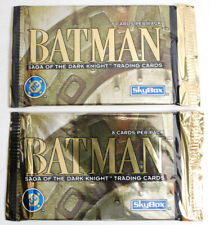 Two Skybox 1994 Batman Saga of the Dark Knight Sealed Trading Cards Packs