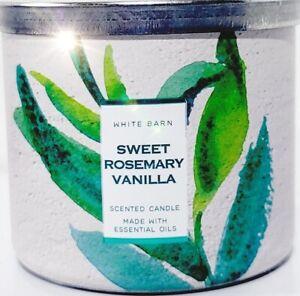 Bath & Body Works Sweet Rosemary Vanilla Country Lid 3 wick Jar Candle 14.5 oz.