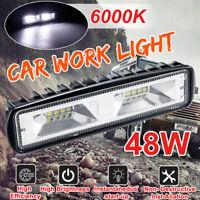 12V-24V 48W 4800LM 16 LED Work Light Flood Beam Bar Car Offroad Driving Fog Lamp