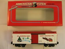 """American Flyer 6-48321 """"CHRISTMAS BOXCAR"""" 8321 """"NEW"""" in ORIG BOX"""